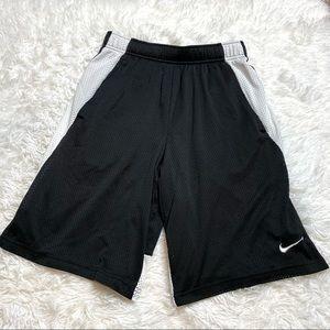 Nike Black & White Mesh Gym Shorts